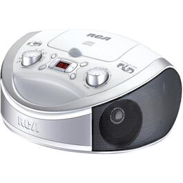 CD/AM-FM White Portable Radio thumb