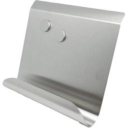 Stainless Steel Cookbook/Tablet Holder, with Magnets thumb