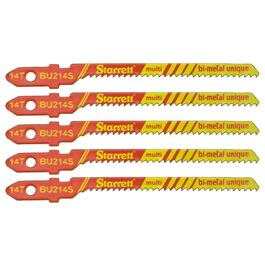 "5 Pack 3"" 14 Tooth Unified Shank Jigsaw Blades, Multi Applications thumb"
