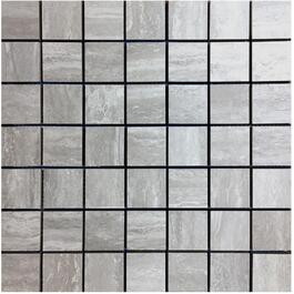 "10 Pack 10 Sq. Ft. 2""x2"" Travertino Classico Grey Mosaic Tiles thumb"