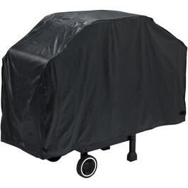 "51"" x 20"" x 40"" Black PEVA Barbeque Cover, with Polyester Backing thumb"
