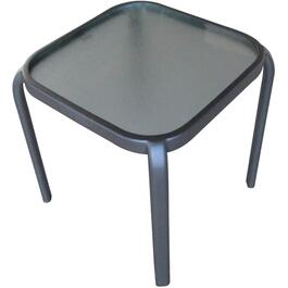 "16"" x 16"" Hudson Steel/Glass Side Table thumb"