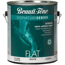3.64L Flat White Exterior Latex Paint thumb