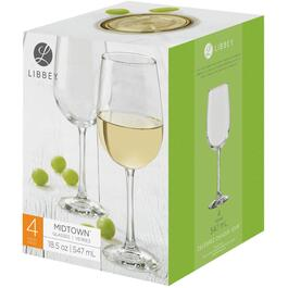 4 Pack 18.5oz Midtown White Wine Stemware Set thumb