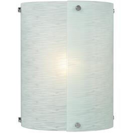 1 Light Rio Chrome Wall Light with Textured Glass Shade thumb