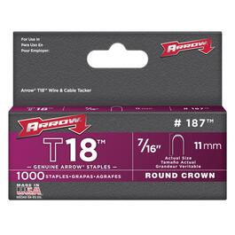 "1000 Pack 7/16"" Staples, for T18 Stapler thumb"