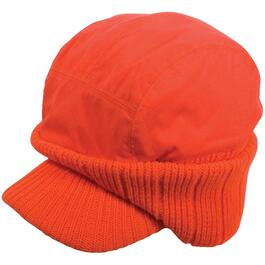 Blaze Orange Ear Warmer Hunting Cap thumb