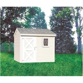 8' x 8' Side Entry Gable Shed Package, with Vinyl Siding thumb
