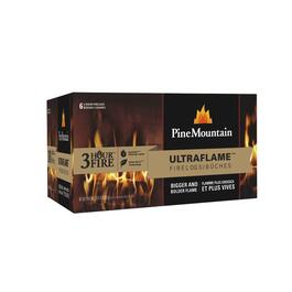 6 Pack 3 Hour Ultraflame Fireplace Logs thumb
