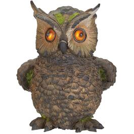 "8"" Solar Owl with Blinking Eyes Garden Statue thumb"