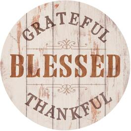 "17"" Round Grateful Wall Plaque thumb"