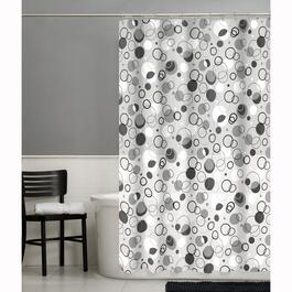 "70"" x 72"" Ring Toss Peva Shower Curtain, with 12 Rings thumb"