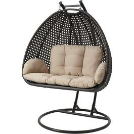 Montauk Wicker Double Hanging Basket Chair thumb