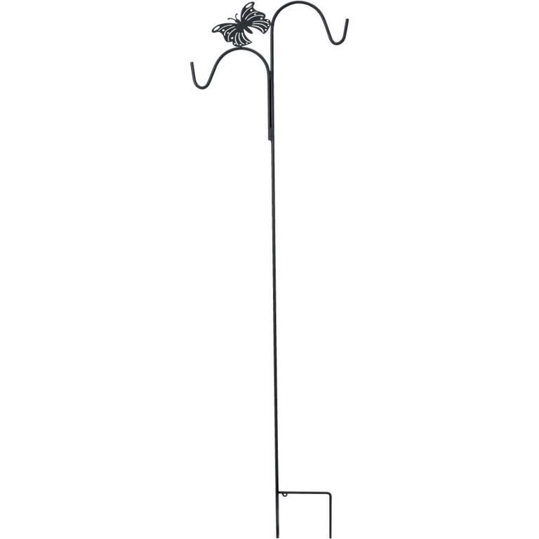 Wirecraft 84 black double garden hook with butterfly - Home expo design center locations ...