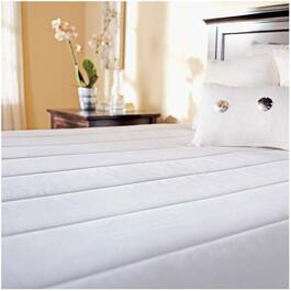 10 Warming Settings Queen Size Heated White Mattress Pad thumb