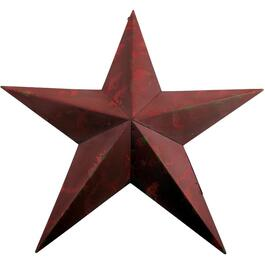"18"" Antique Red Star Wall Ornament thumb"