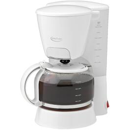 8 Cup White Basket Coffee Maker thumb