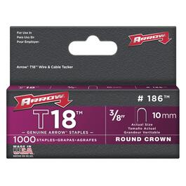 "1000 Pack 3/8"" Staples, for T18 Stapler thumb"