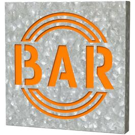 "12"" x 12"" Galvanized Outdoor Bar Sign thumb"