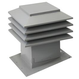 "12"" x 12"" Maximum Grey Slanted Roof Vent thumb"