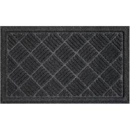 "18"" x 30"" Polyester Charcoal Contour Floor Mat thumb"