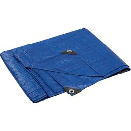 8' x 10' Light Duty Blue Poly Tarp thumb