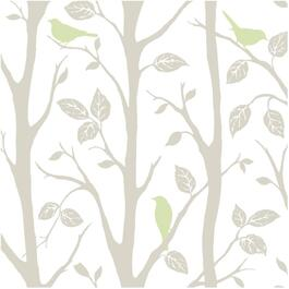"20.5"" x 18' Grey and Green Sitting in a Tree Peel and Stick Wallpaper thumb"