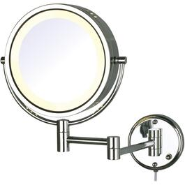 "1x+8x Round 8.5"" Wall Mount Lighted Makeup Mirror thumb"