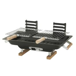 133 sq. in. Table Top Steel Hibachi Charcoal Barbecue thumb