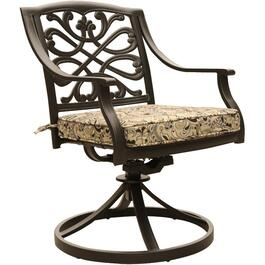 2 Pack Tuscany Cast Aluminum Swivel Dining Chairs thumb