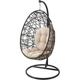 Montauk Wicker Hanging Basket Chair thumb