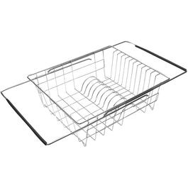 "14"" x 12"" Chrome Over Sink Dish Drainer thumb"