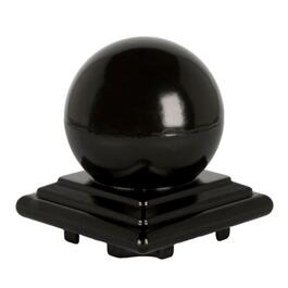 Black Aluminium Ball Railing Post Cap thumb