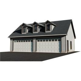 40' X 26' Basic Garage Package, with Complete Side Entry and Exterior Options thumb