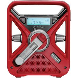 Portable AM/FM/NOAA Weather Radio, with USB Smartphone Charger, LED Flashlight and Crank thumb