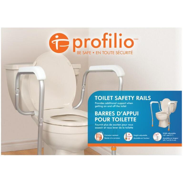 Adjustable Toilet Safety Rails - Home Hardware