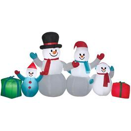 Outdoor Inflatable Airblown Snowman Family Figure thumb