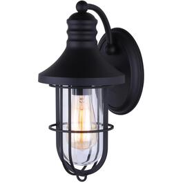 South 1 Light Matte Black Outdoor Down Light with Clear Glass thumb