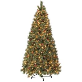 7' Cashmere & Glitter Christmas Tree, with 350 Lights thumb