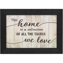 "16"" x 22"" This Home Is A Collection Framed Wall Plaque thumb"
