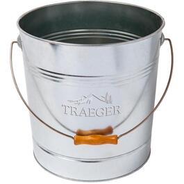 Galvanized Wood Pellet Storage Bucket, holds 20 lbs thumb