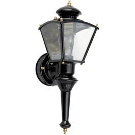 Charleston Black Outdoor Coach Light Fixture with Motion Sensor thumb