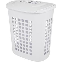 44L White Hip-Hugger Laundry Basket thumb