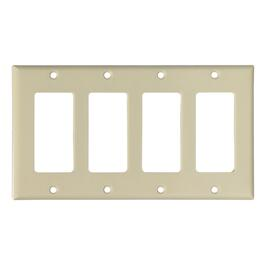 Ivory 4 Device Switch Plate thumb