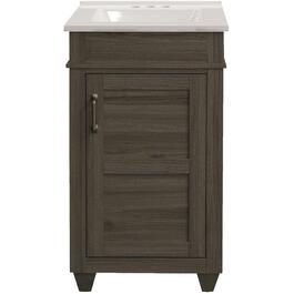 "19"" x 17"" Cohen Grey 1 Door Vanity, with Top thumb"