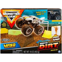 Indoor Monster Jam Playset with Kinetic Sand, Assorted Pieces thumb