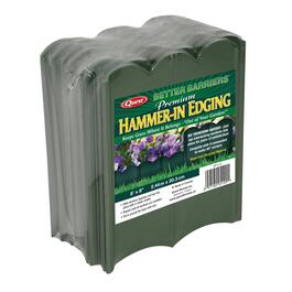 "8"" x 8' Green Hammer-In Poly Lawn Edging thumb"