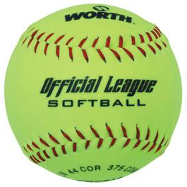 "12"" Yellow Optic Dura Softball thumb"