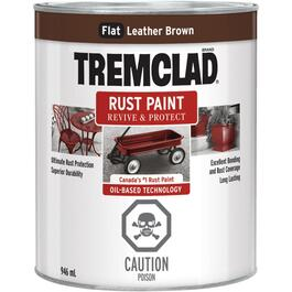 946mL Flat Leather Brown Alkyd Rust Paint thumb