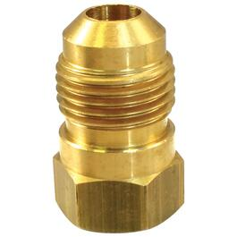 "1/2"" Flare x 3/8"" Female Pipe Thread Brass Connector thumb"
